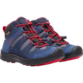 Keen Hikeport Mid WP - Calzado Niños - rojo/azul